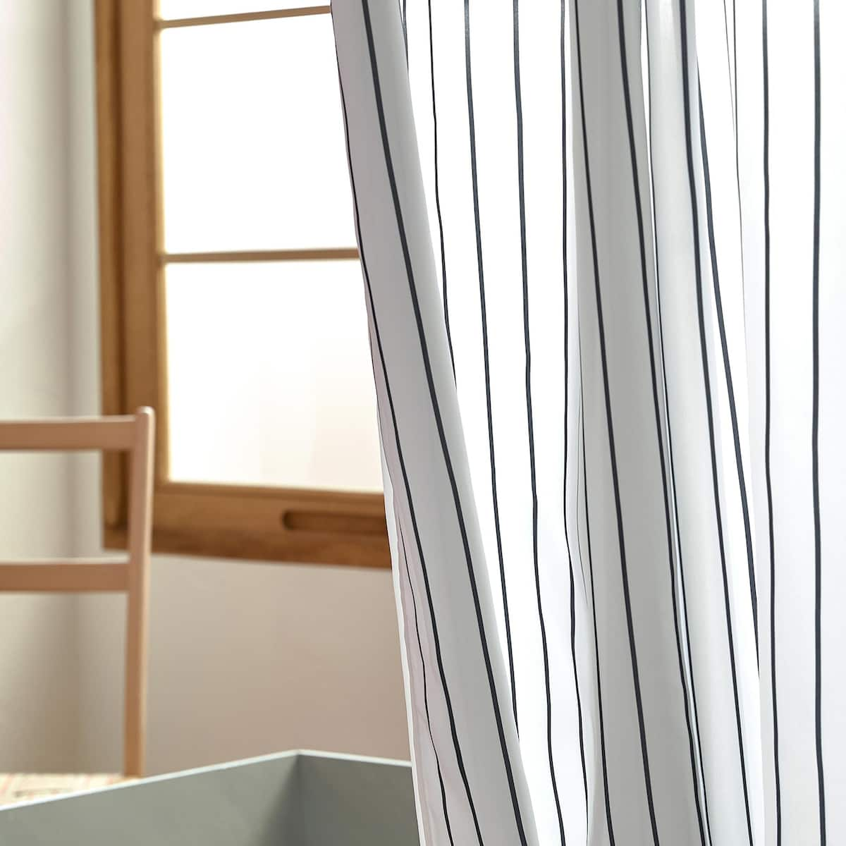 Image 4 Of The Product SHOWER CURTAIN WITH DARK STRIPES
