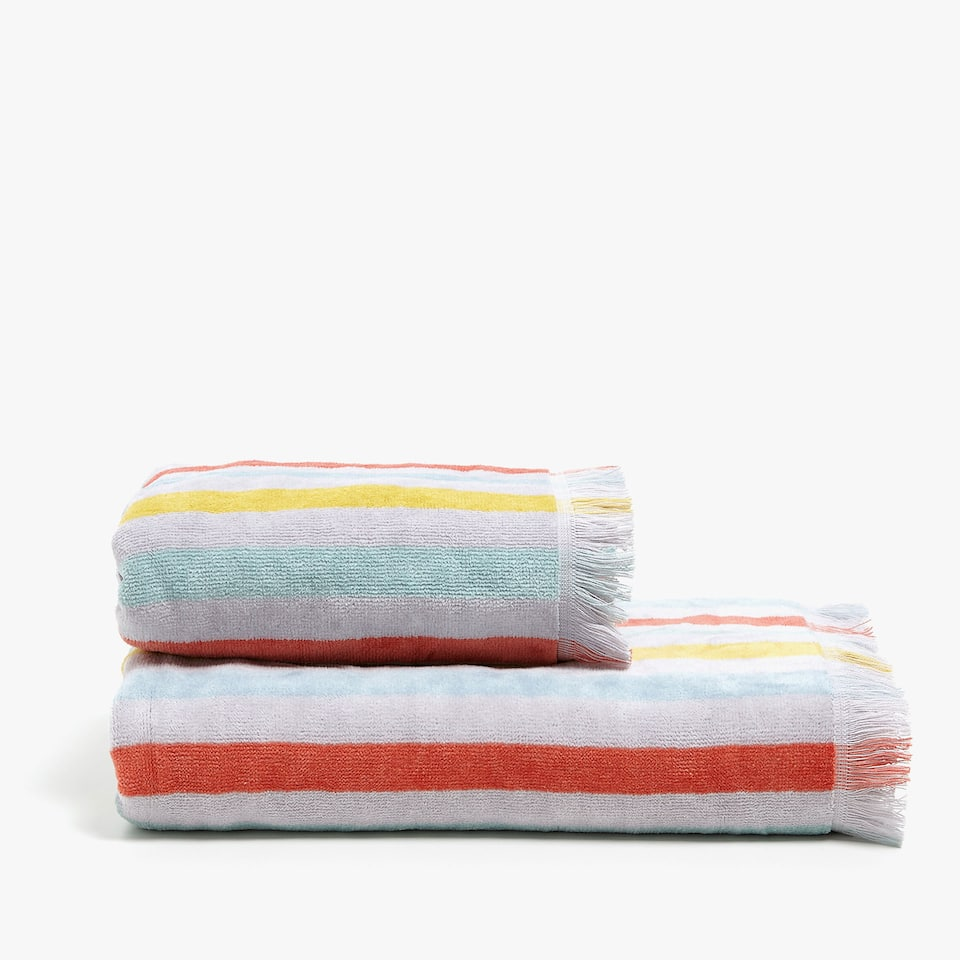 MULTICOLOURED COTTON TOWEL