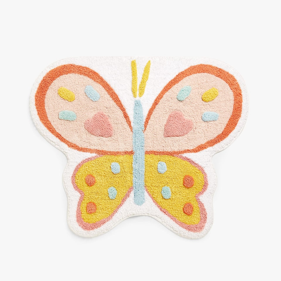 BUTTERFLY COTTON BATH MAT
