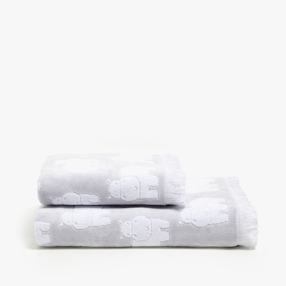 HIPPOPOTAMUS COTTON TOWEL
