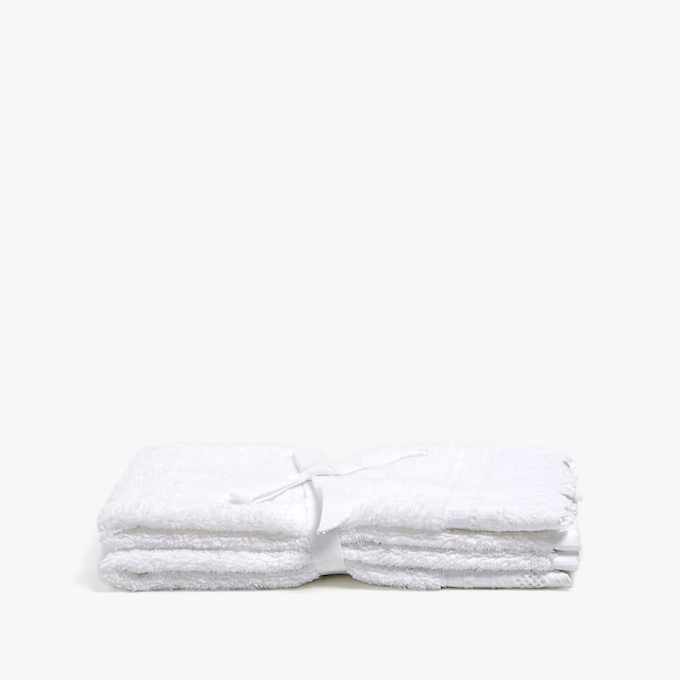 COTTON TOWEL WITH EMBROIDERED BORDER (SET OF 2)