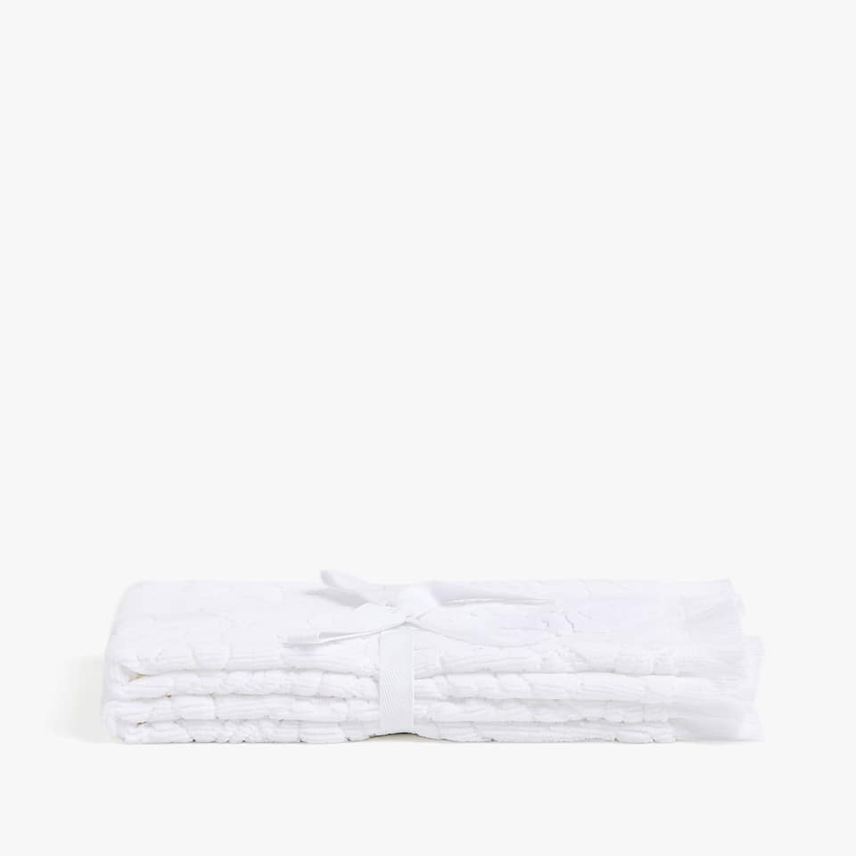 VELVET COTTON JACQUARD TOWEL (SET OF 2)