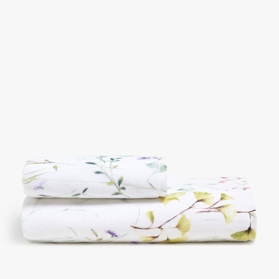 FLORAL PRINT COTTON TOWEL