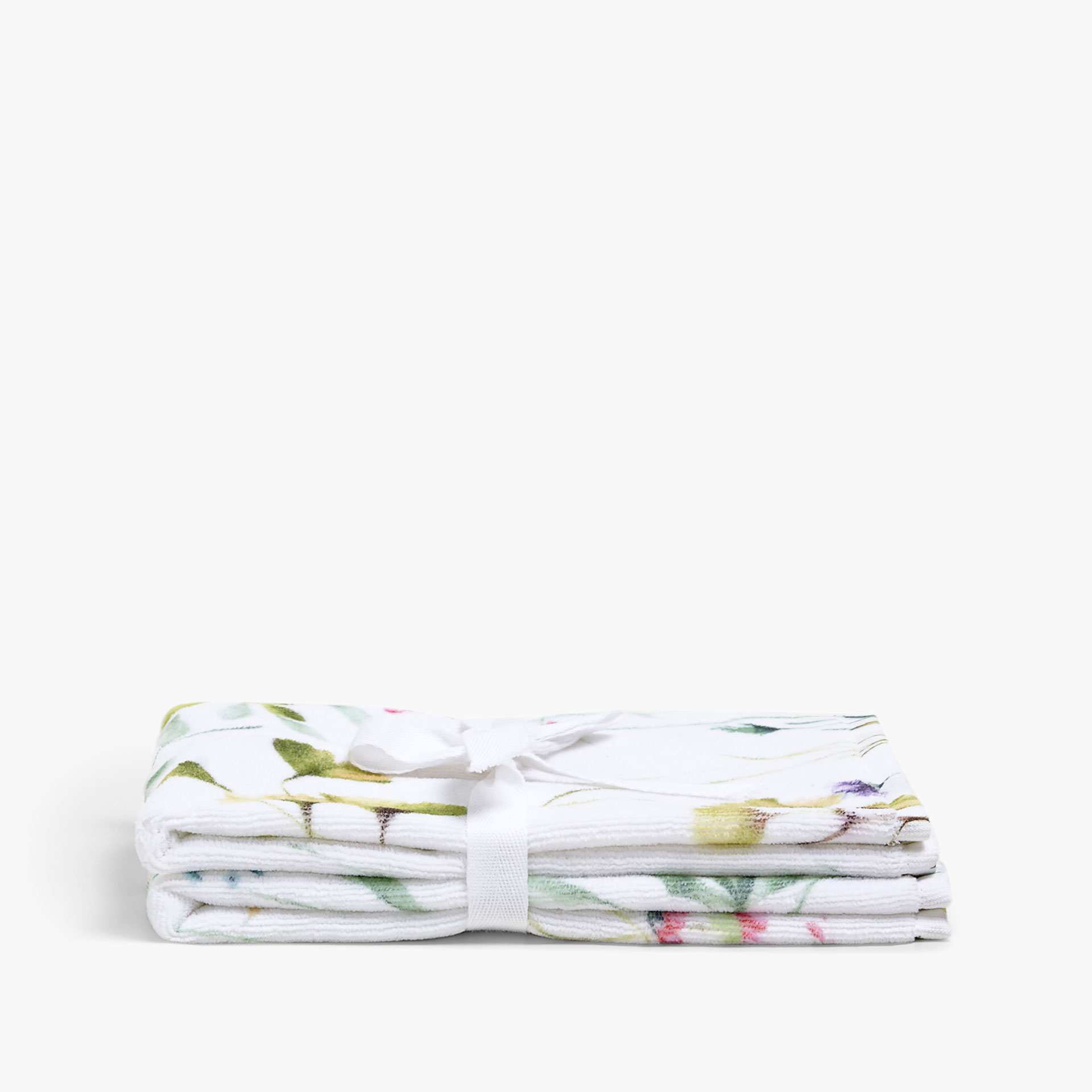 FLORAL PRINT COTTON TOWEL (SET OF 2)