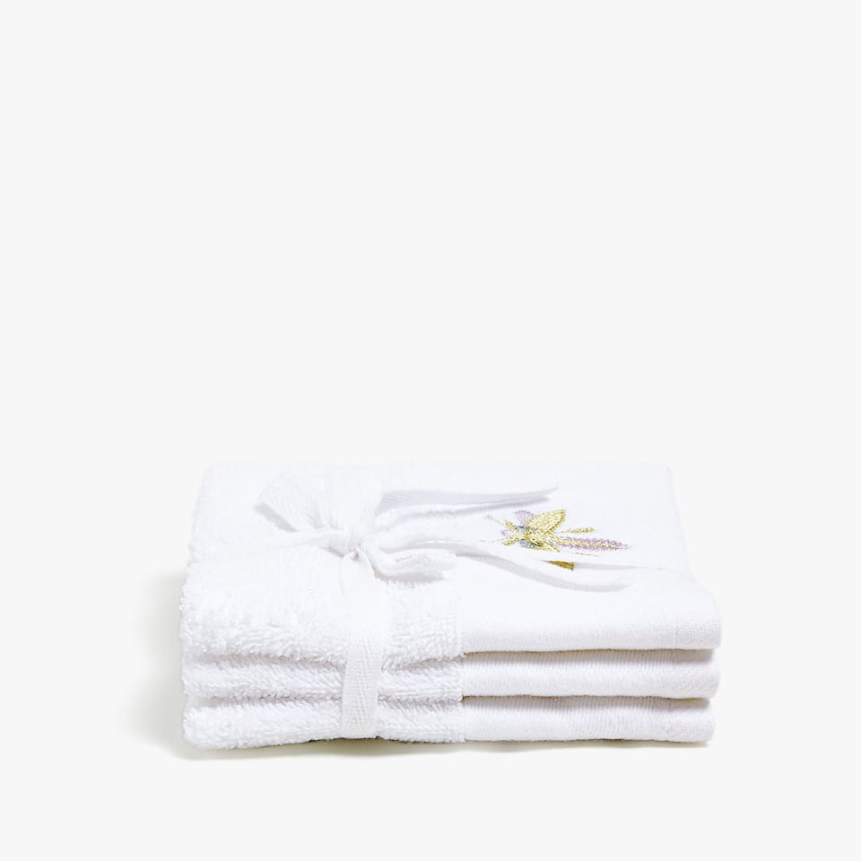 COTTON TOWEL WITH DRAGONFLY DETAIL (SET OF 3)