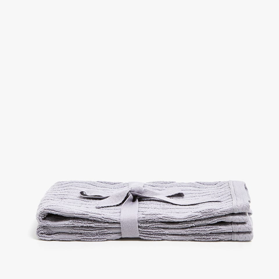 JACQUARD COTTON TOWEL (SET OF 2)