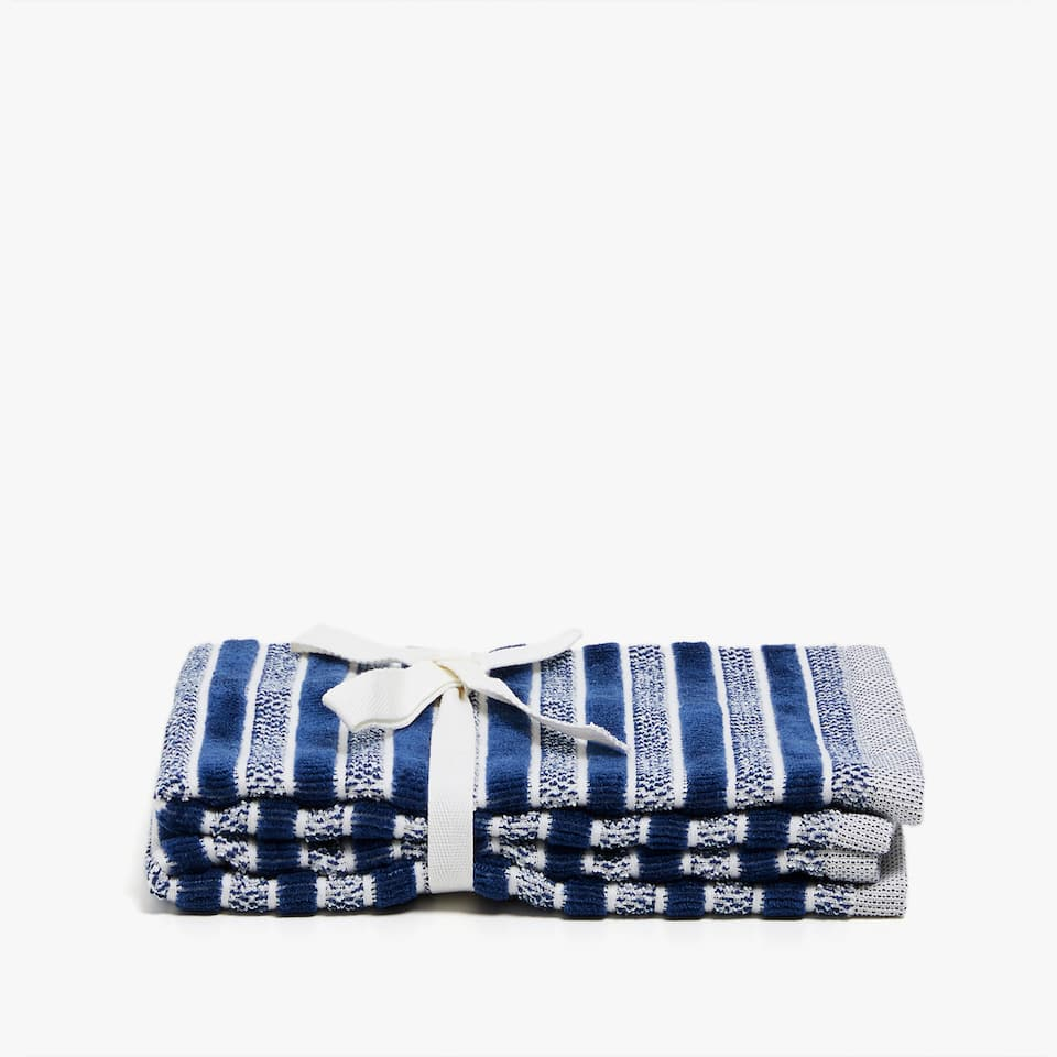 LINED COTTON JACQUARD TOWEL (SET OF 2)