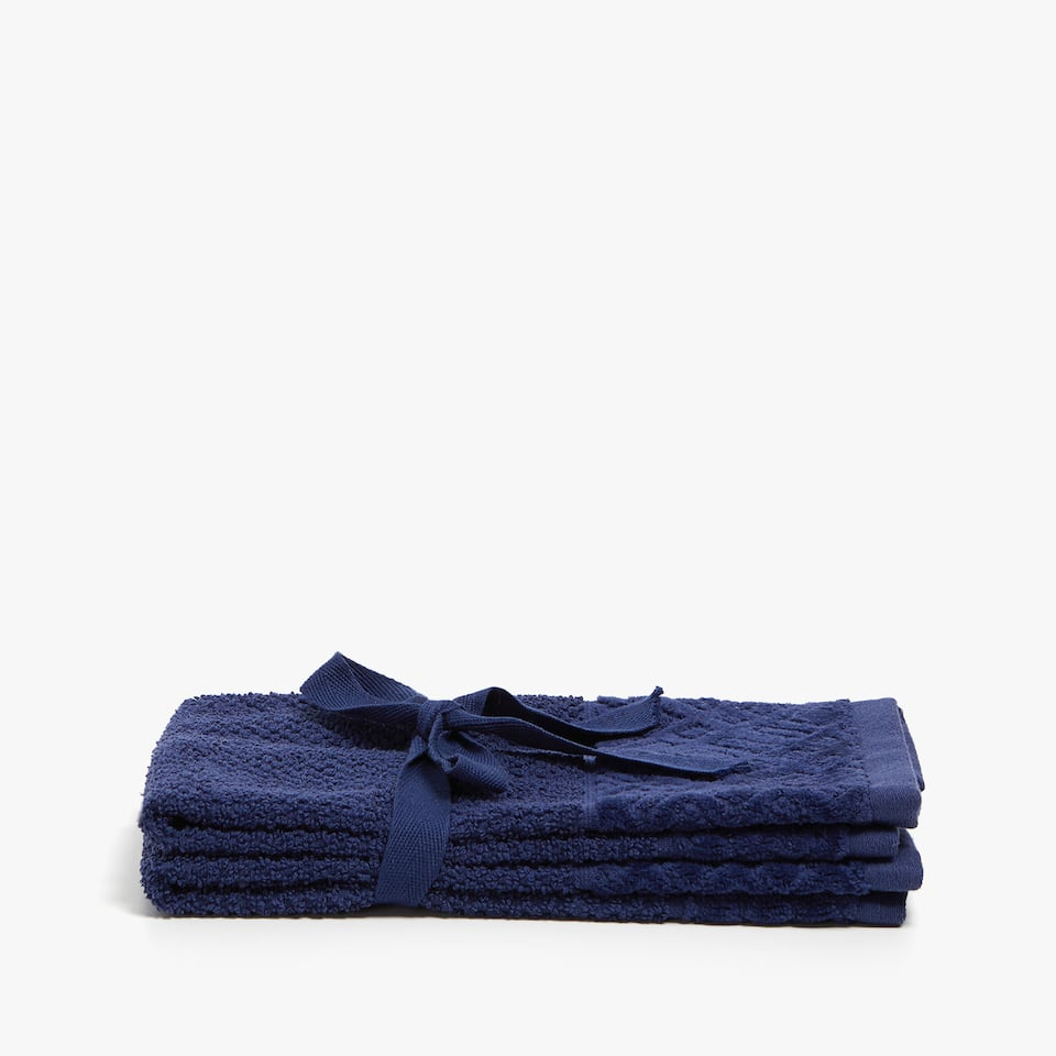 COTTON TOWEL WITH VELVET BORDER (SET OF 2)