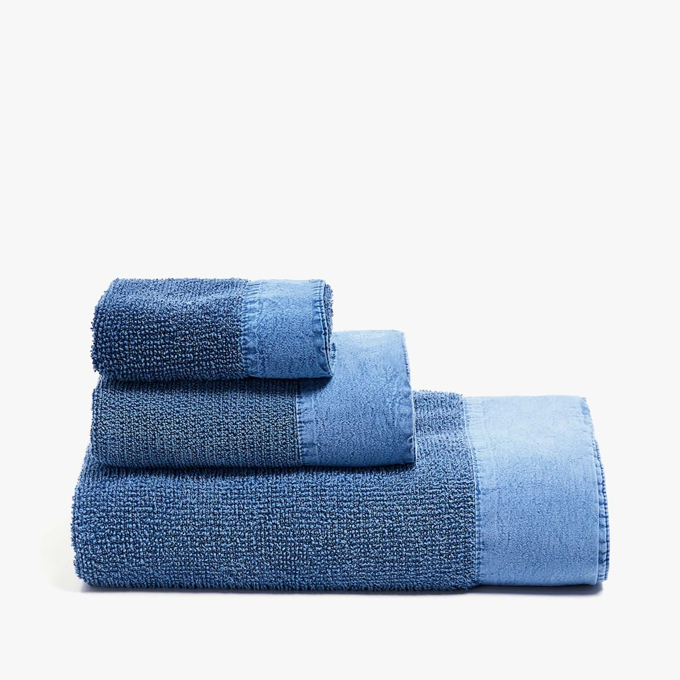 DENIM-COLOURED COTTON TOWEL