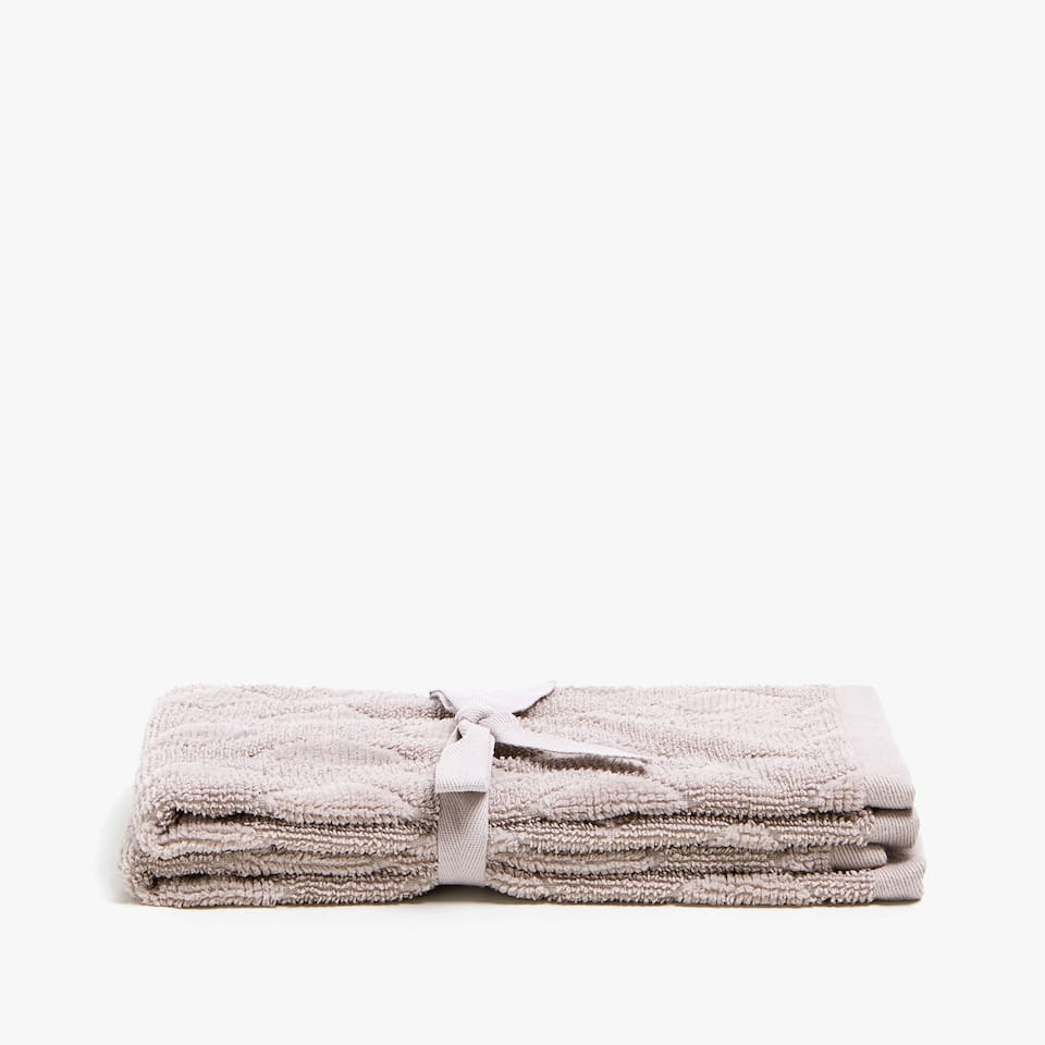 GEOMETRIC COTTON JACQUARD TOWEL (SET OF 2)