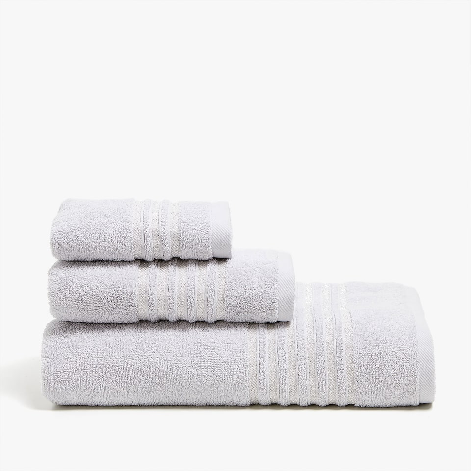 COTTON TOWEL WITH STRIPE BAND