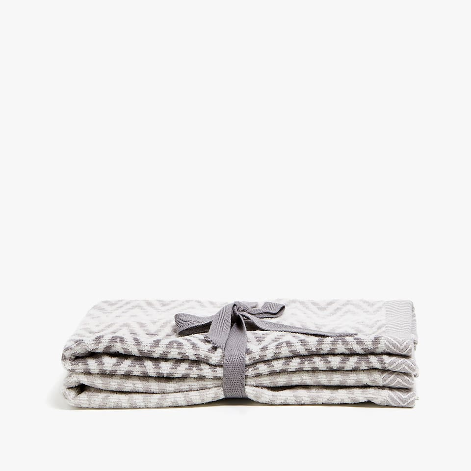 ZIGZAG COTTON TOWEL (SET OF 2)