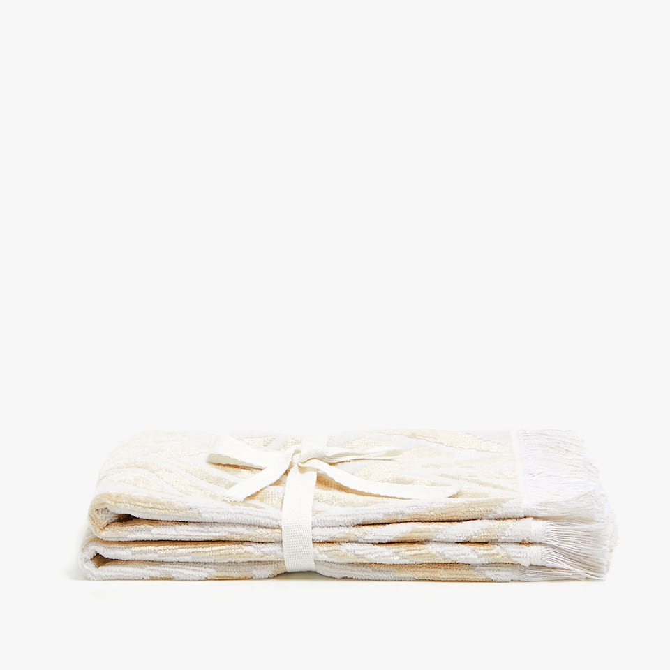 ORGANIC DESIGN VELVET TOWEL (SET OF 2)