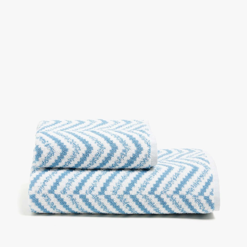 ZIGZAG PRINT COTTON TOWEL