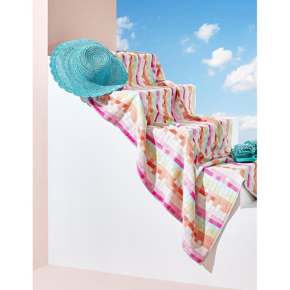 MULTICOLOURED COTTON JACQUARD TOWEL