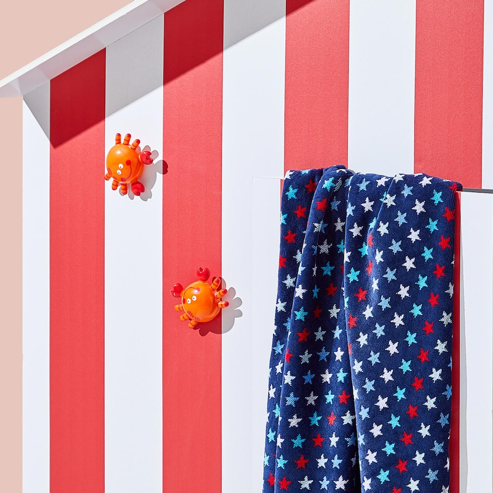 COTTON VELVET TOWEL WITH STARS