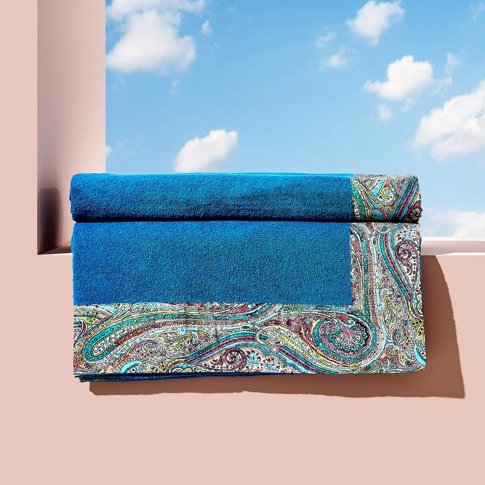 PAISLEY BORDER COTTON TOWEL