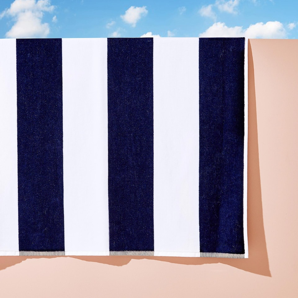 STRIPED COTTON VELVET TOWEL