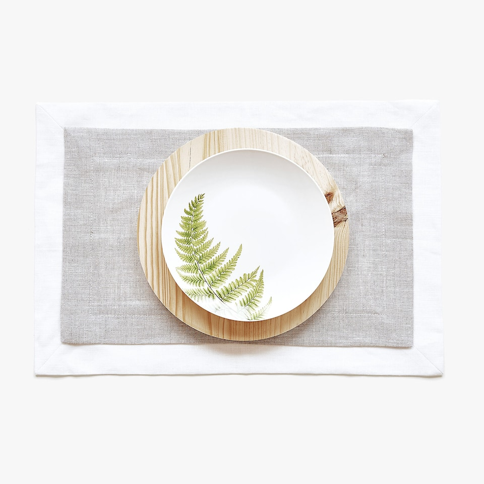Double-layer linen placemat
