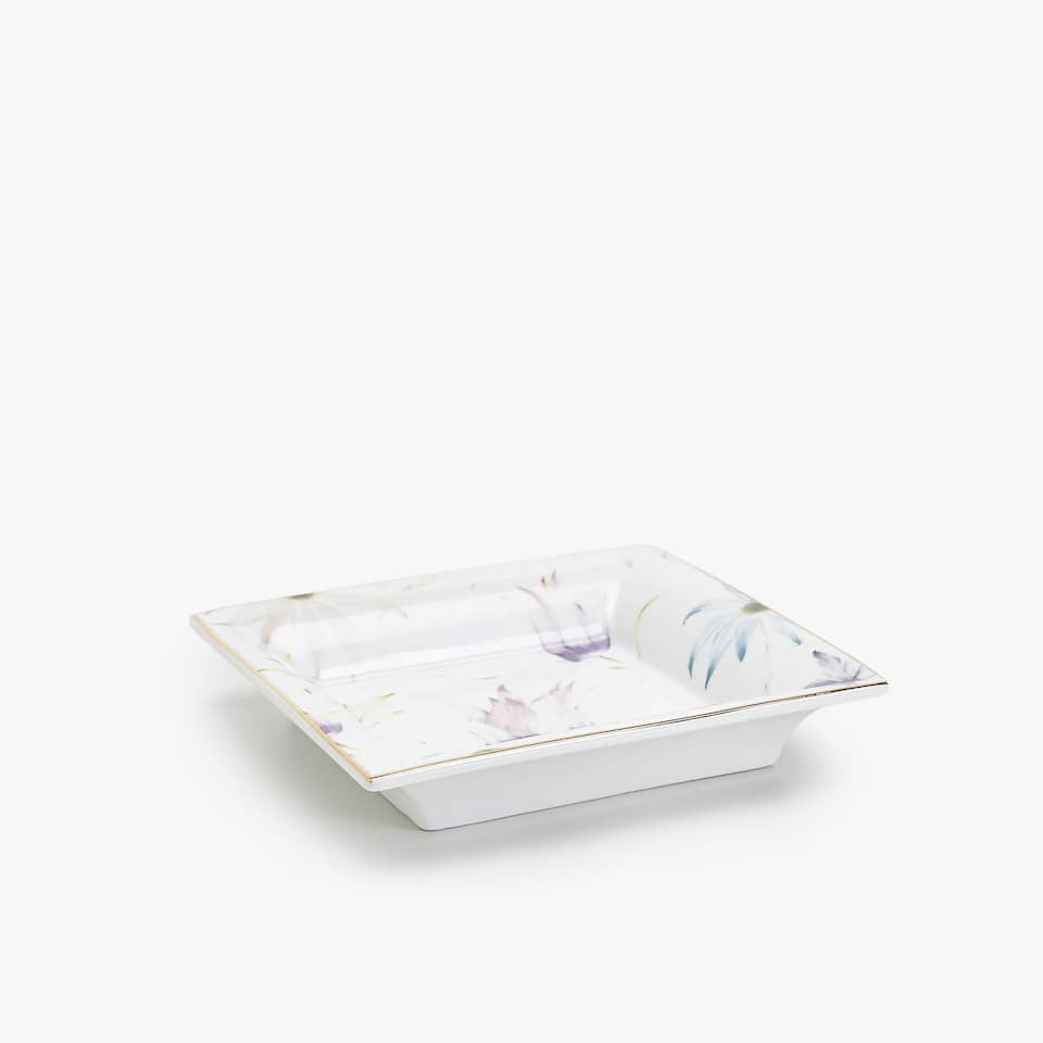 FLORAL TRANSFER ASHTRAY