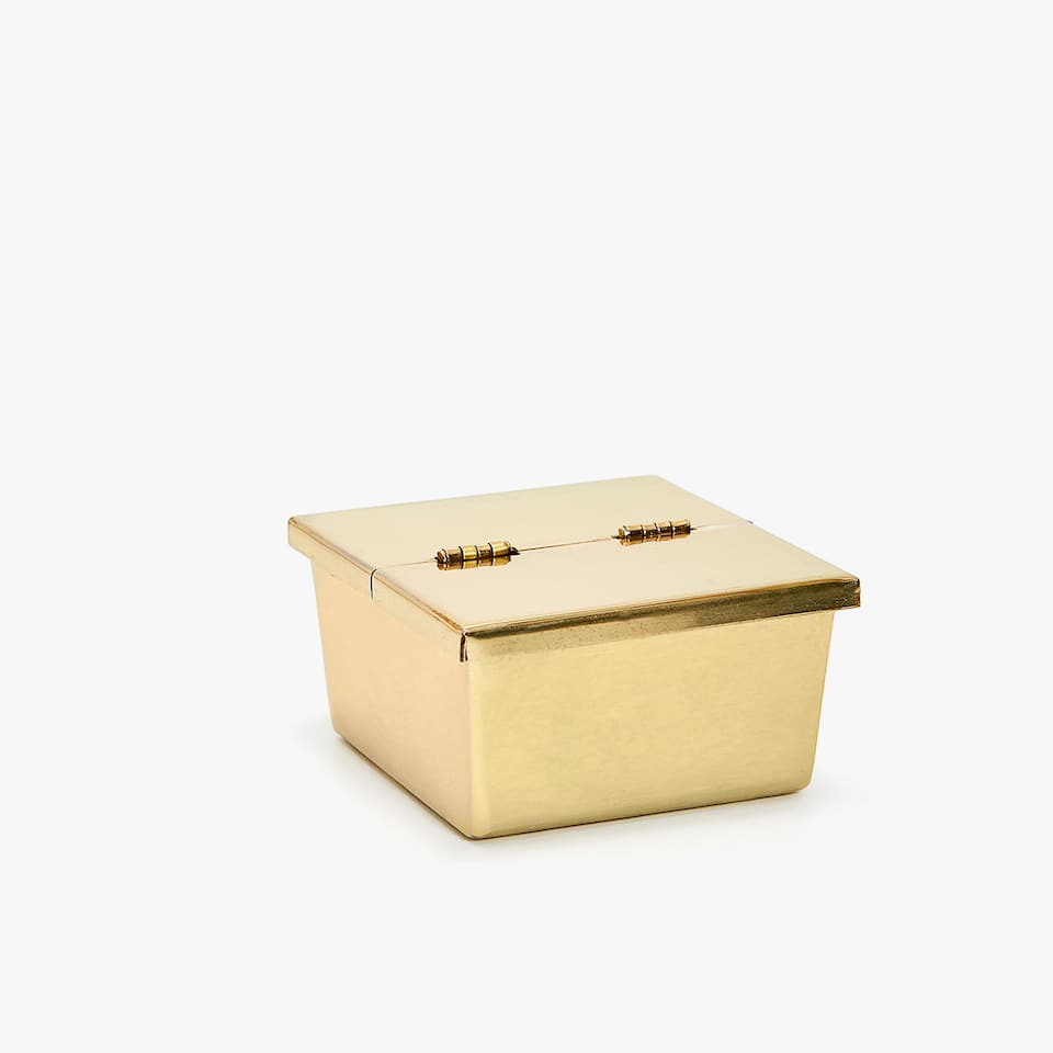 GOLD ASHTRAY WITH LID