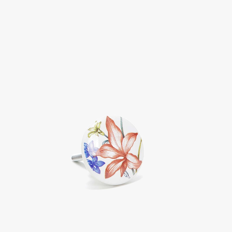 FLORAL TRANSFER DOOR KNOB (SET OF 2)