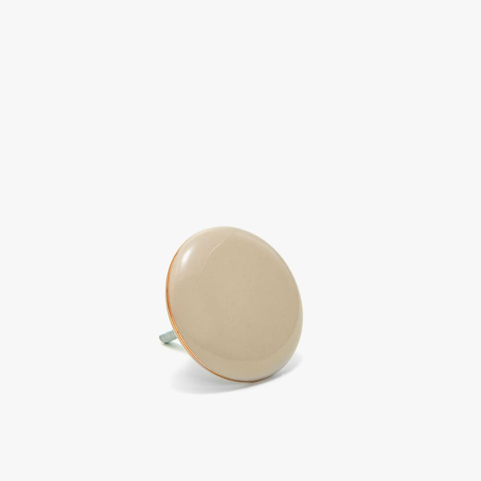 CERAMIC DOOR KNOB WITH GOLD TRIM (SET OF 2)