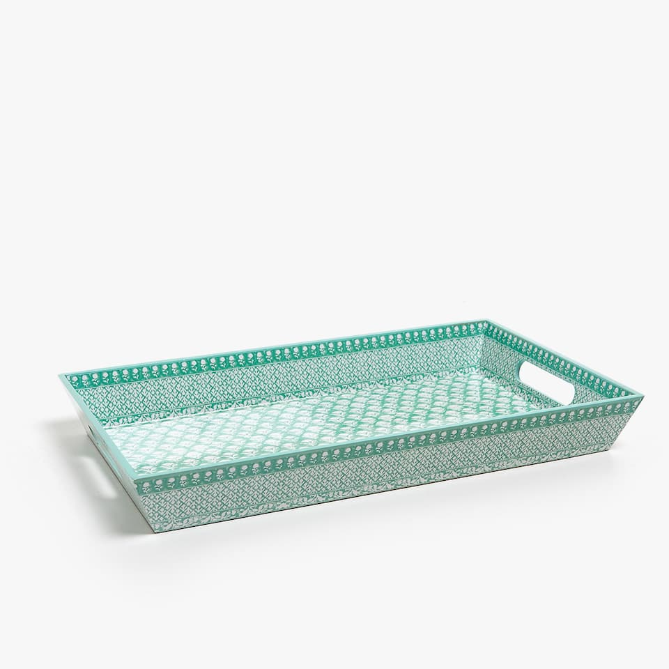 PRINTED RECTANGULAR TRAY