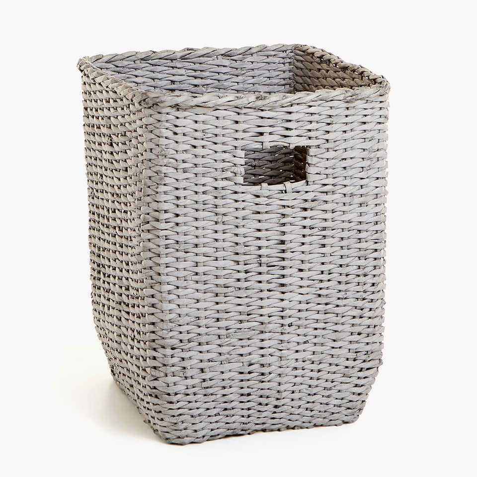 BRAIDED PAPER CLOTHES BASKET