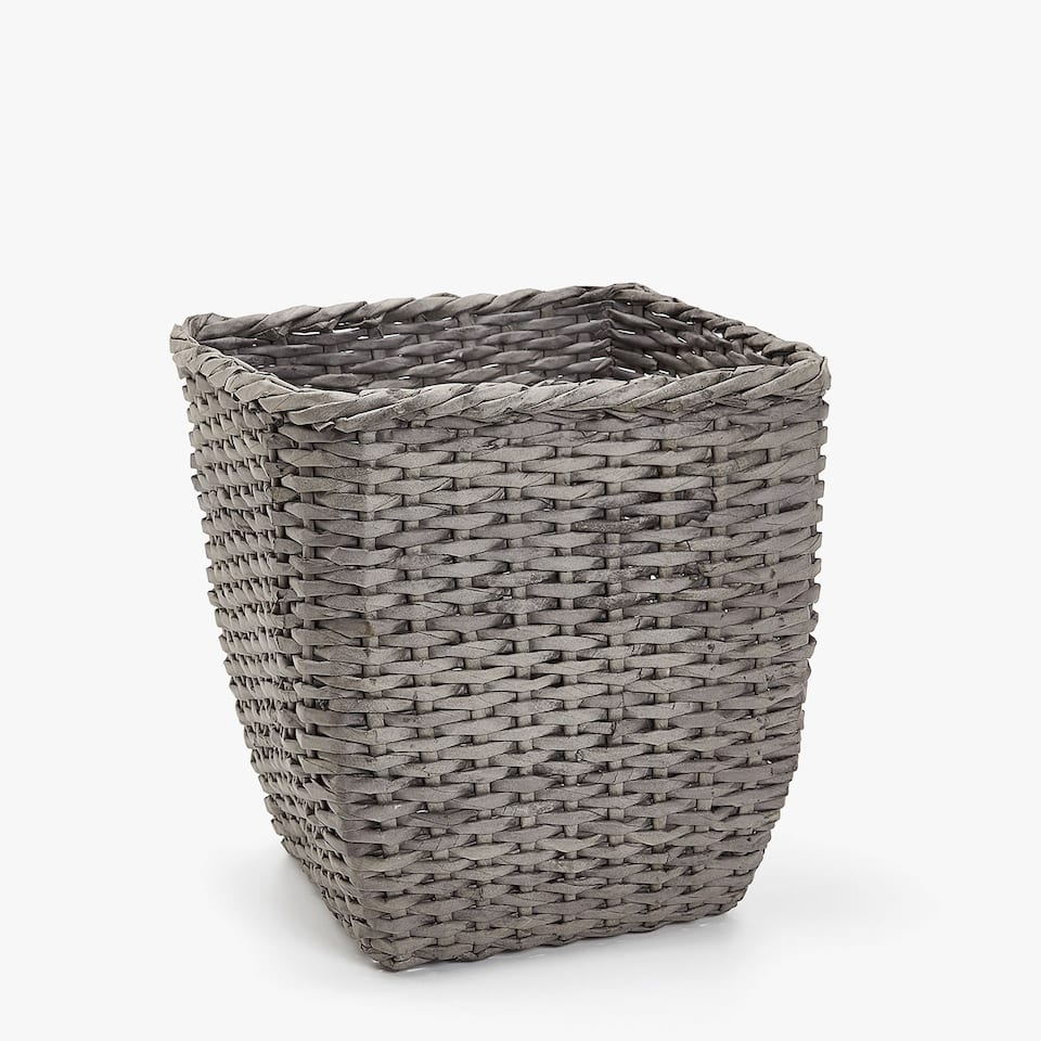 BRAIDED PAPER WASTEPAPER BIN