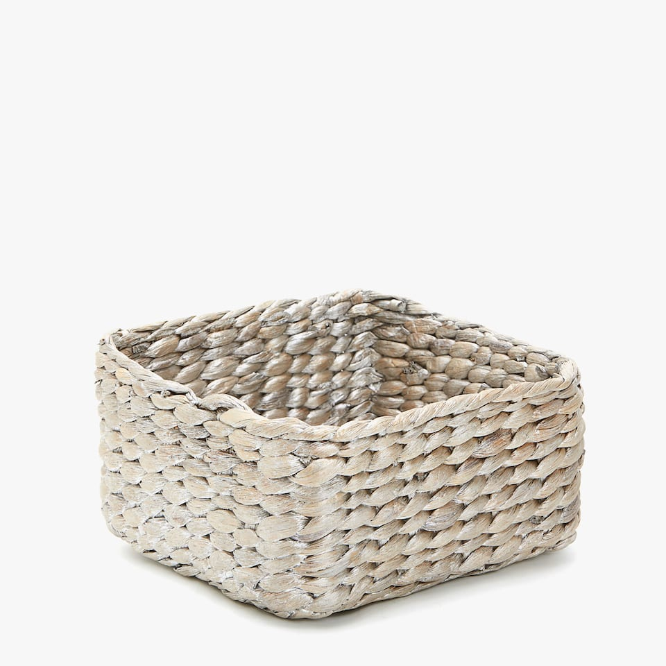 BRAIDED SQUARE BASKET