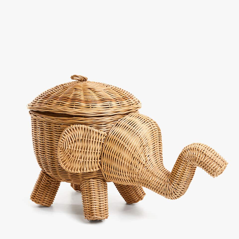 ELEPHANT SHAPED BASKET