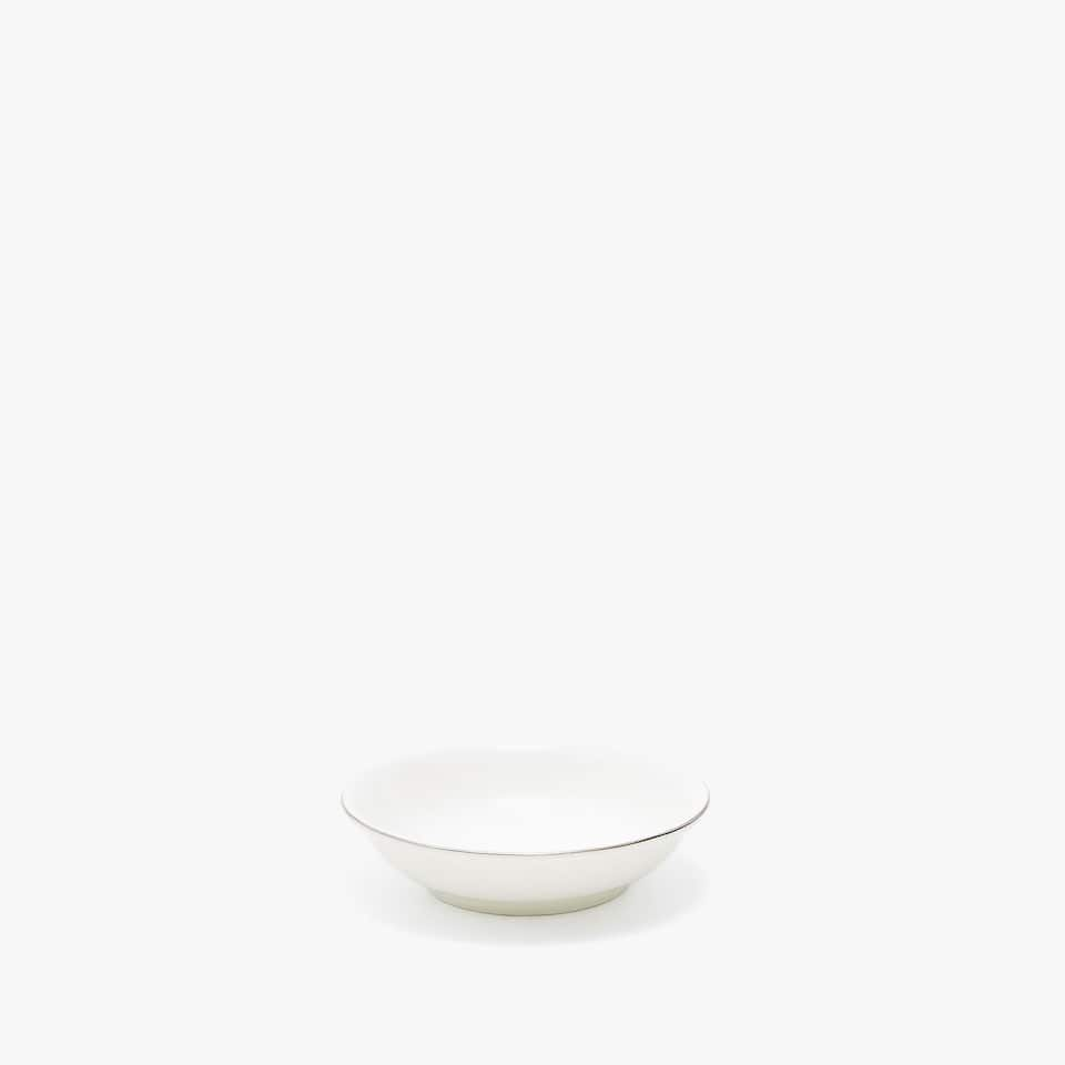 SILVER-RIMMED BONE CHINA MINI BOWL