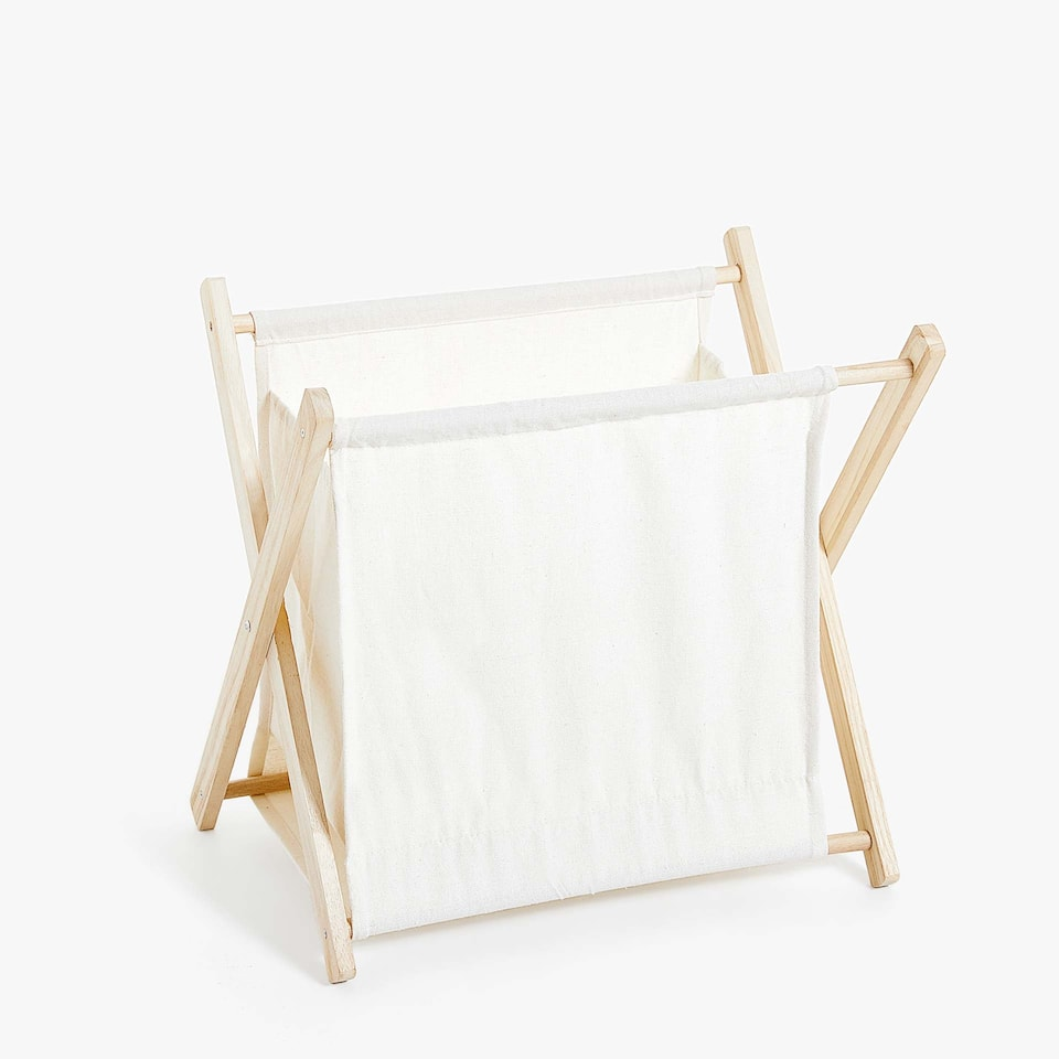 WOODEN FRAME MAGAZINE RACK