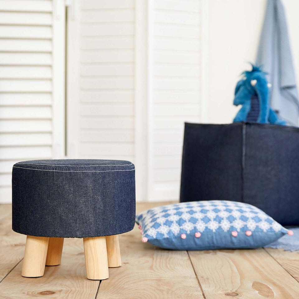 KIDS DENIM STOOL
