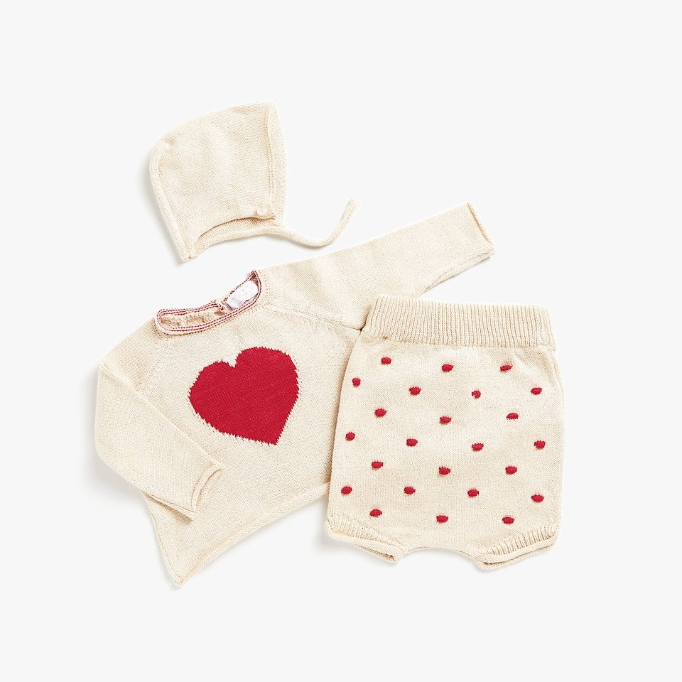 POLKA DOT PURL KNIT BABY BRIEFS