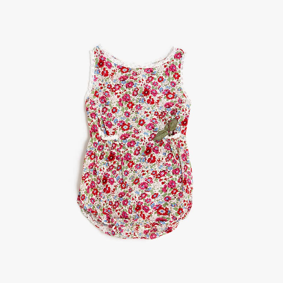 MINI FLOWER PRINTED ROMPER SUIT