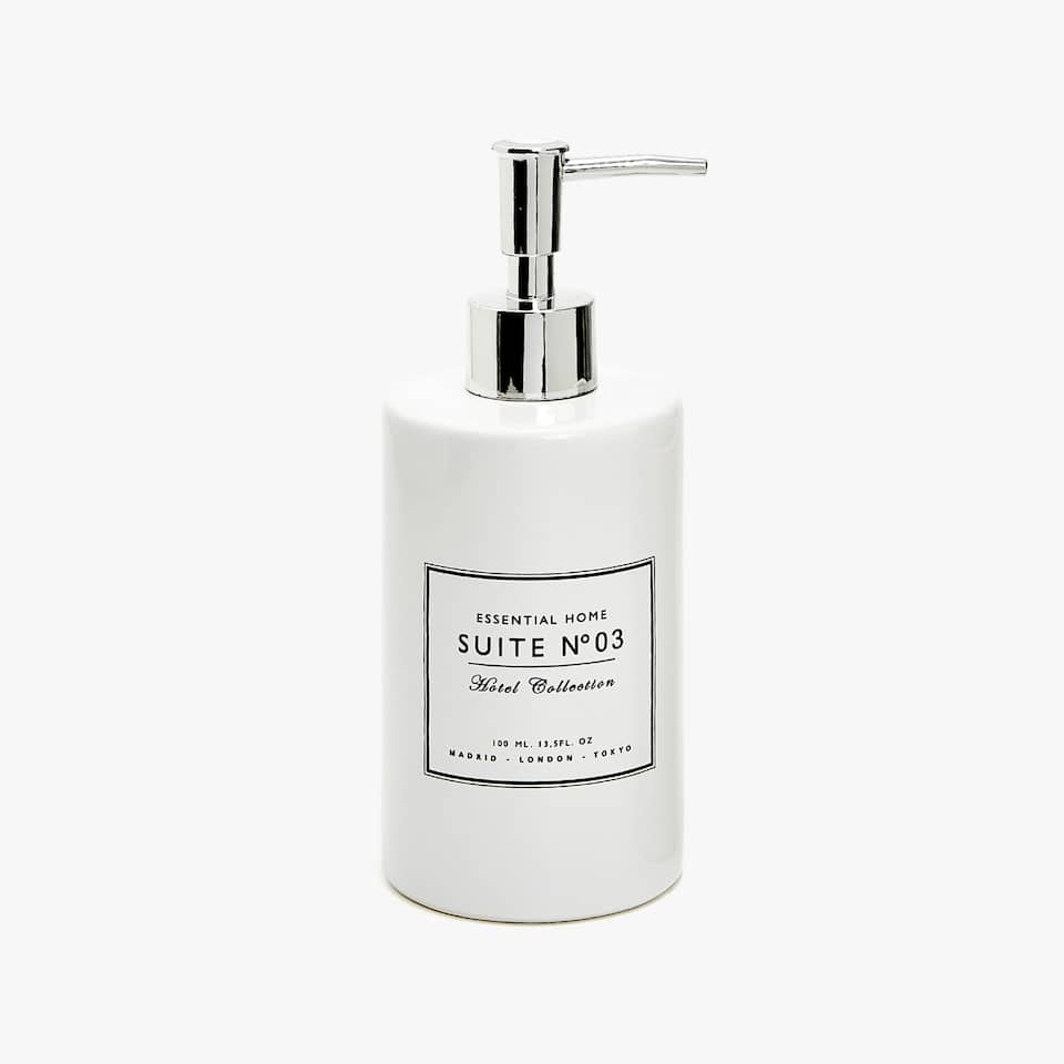 CERAMIC MESSAGE SOAP DISPENSER