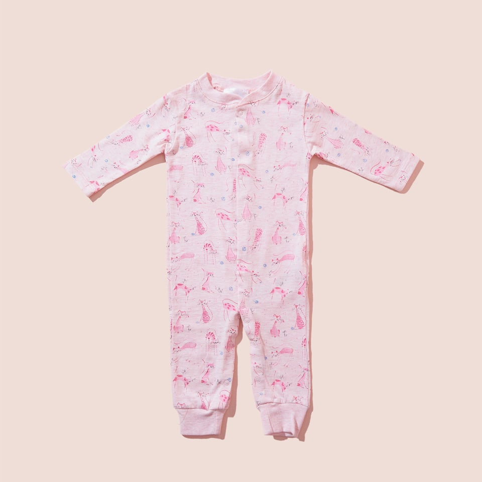 CAT PRINT ROMPER SUIT