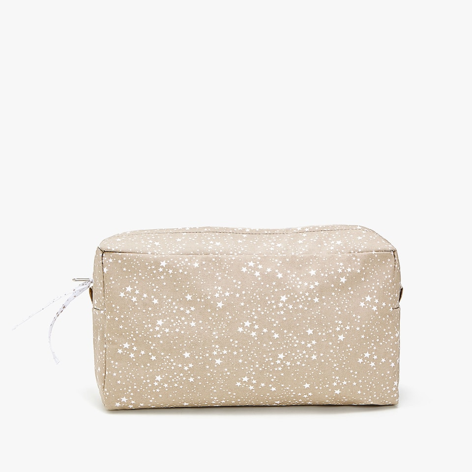 WATERPROOF LITTLE STARS PRINT TOILETRY BAG