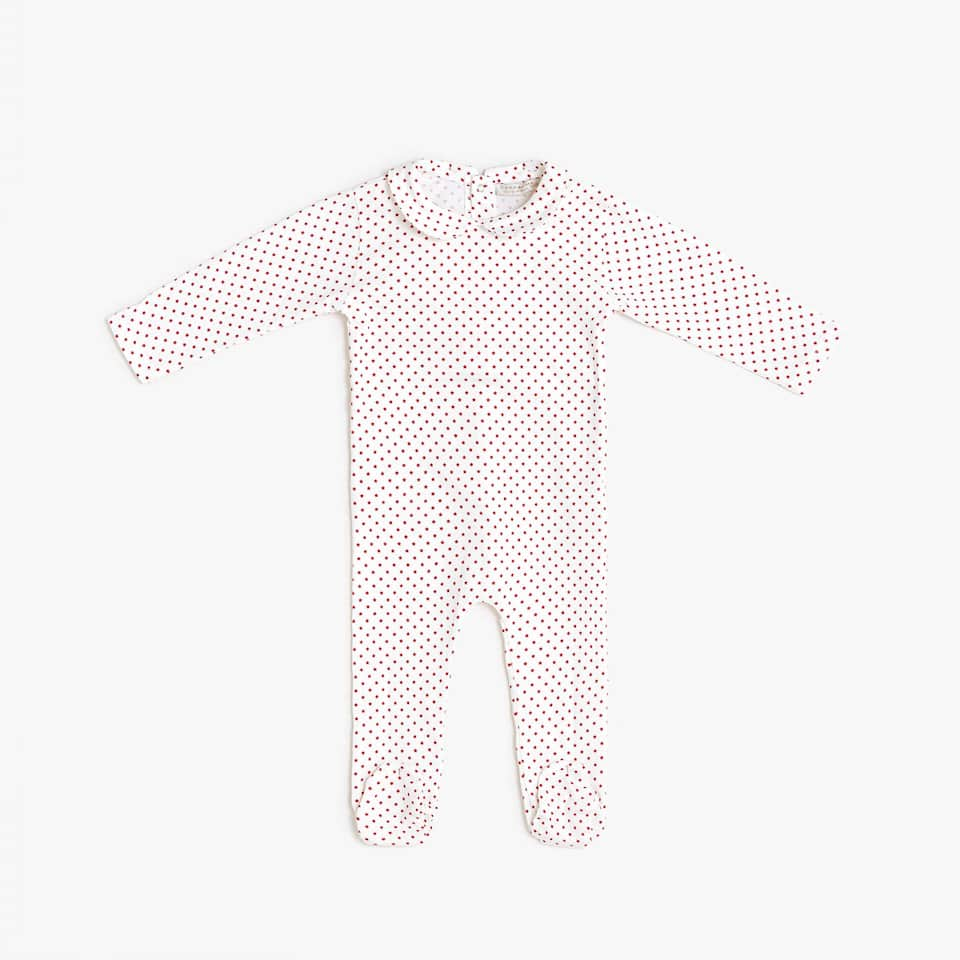 ROMPER SUIT WITH RED DETAIL