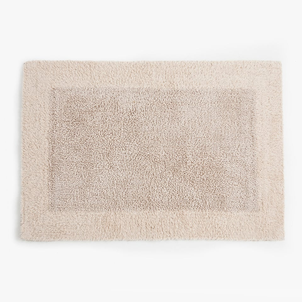 REVERSIBLE COTTON BATH MAT WITH BORDER