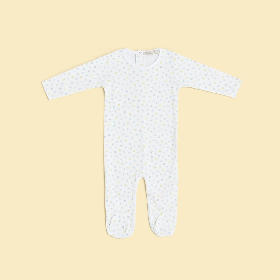 MULTICOLOURED STAR DESIGN ROMPER SUIT