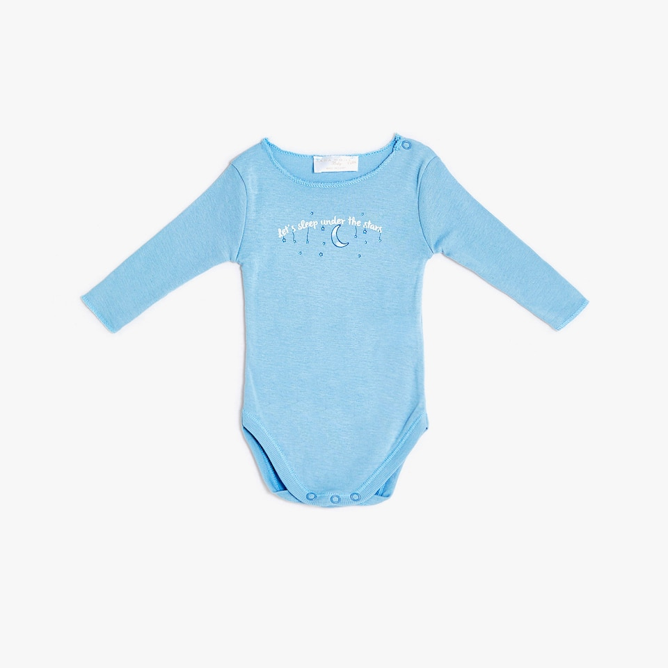 BODYSUIT WITH STAR PRINT AND SLOGAN