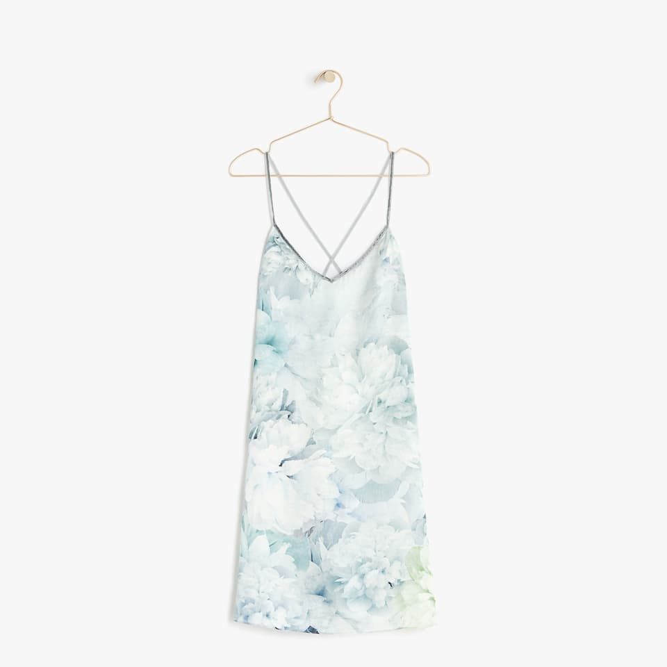 Floral print nightdress