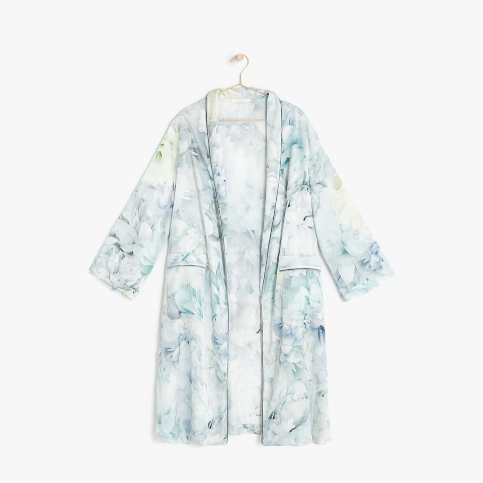 Robe viscose estampado flores