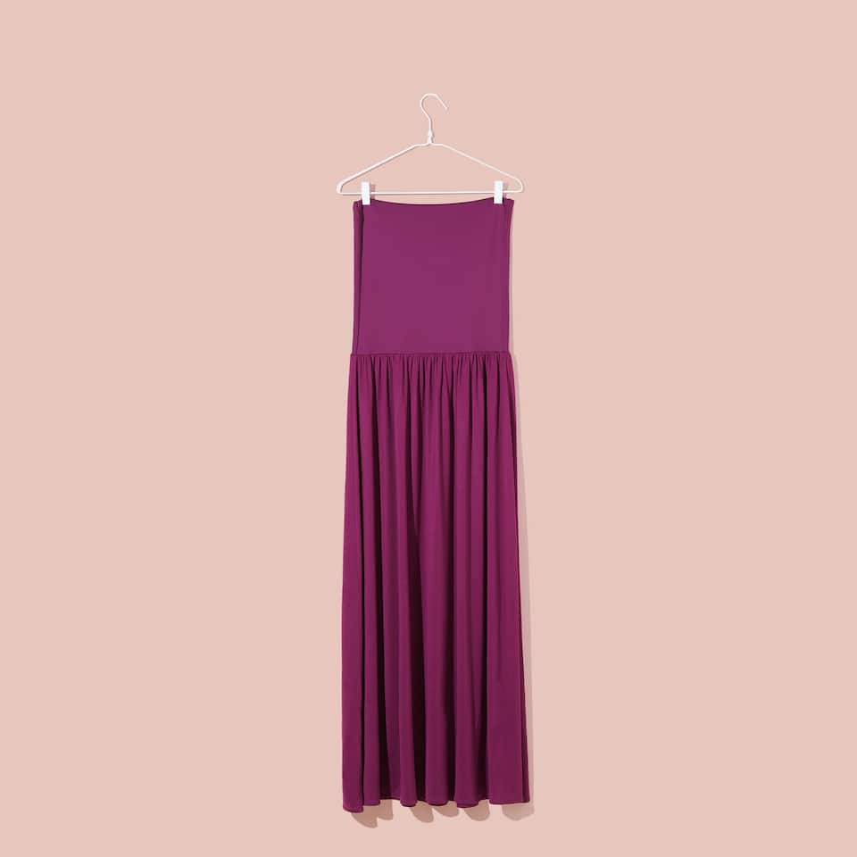 LONG BURGUNDY DRESS