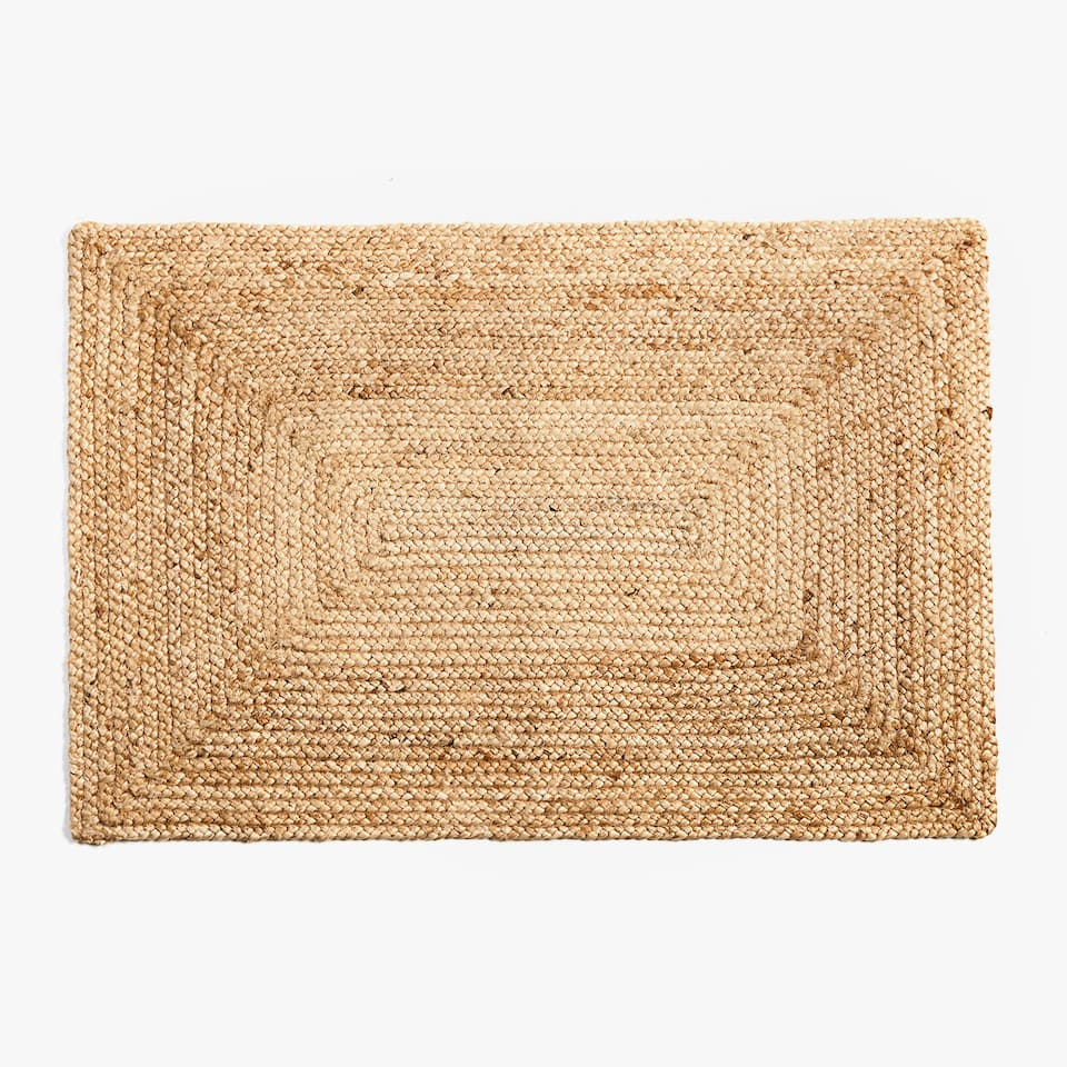 CONCENTRIC RECTANGLES JUTE DOORMAT