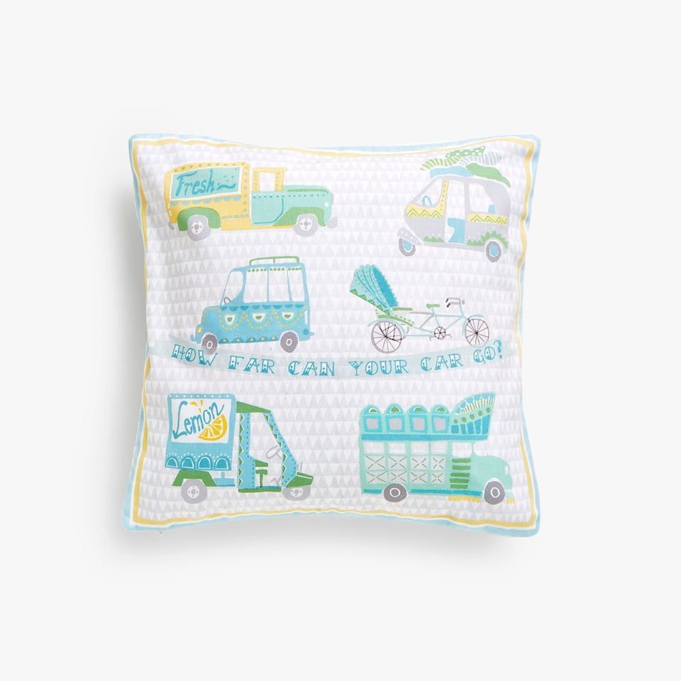 Kids vehicles cushion cover