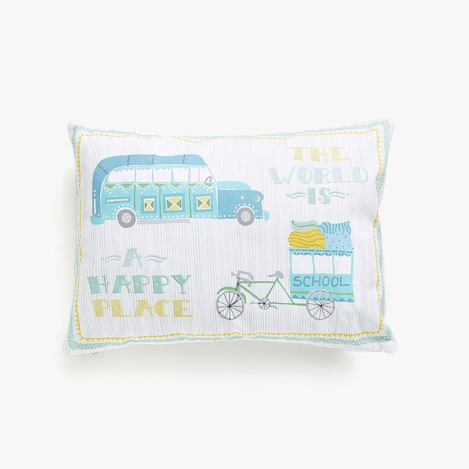 Kids printed cushion cover